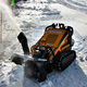 China cheap mini skid steer snow blower for sale
