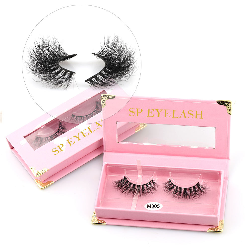 SP eyelash Private Label Custom Packaging Box 25mm 3D Mink Eye Lashes vegan Eyelashes