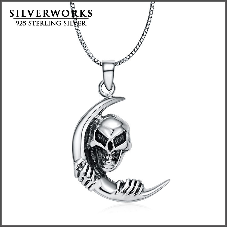 Skull Tulwar Thai 925 sterling silver pendant 925 sterling silver pendant for necklace