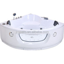2018 Popular Style Sector Corner Hydromassage 2 Persons Bathtubs For JS-8601
