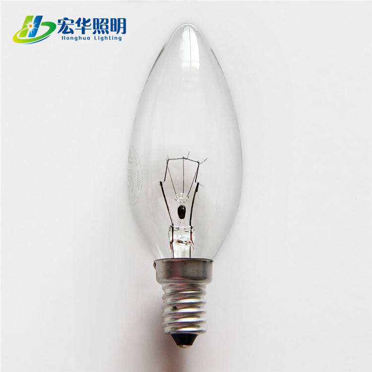 C35 Candle 40W clear glass filament incandescent light bulb for decoration light
