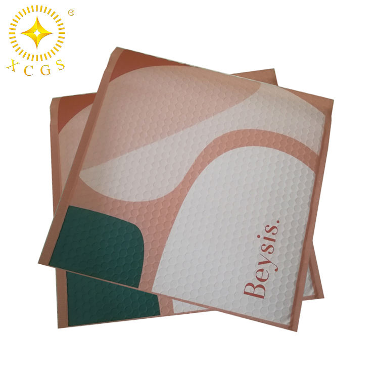 Custom size 4X7 4X8 4X4 bubble mailer padded mailing pink poly bubble A3/A4 plastic wrap bubble postage envelope