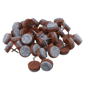 60pcs Furniture Felt Pad Round Heavy Duty Nail-on Slider Glide Pad Floor Protector for Wooden Furniture Chair Tables Leg Feet