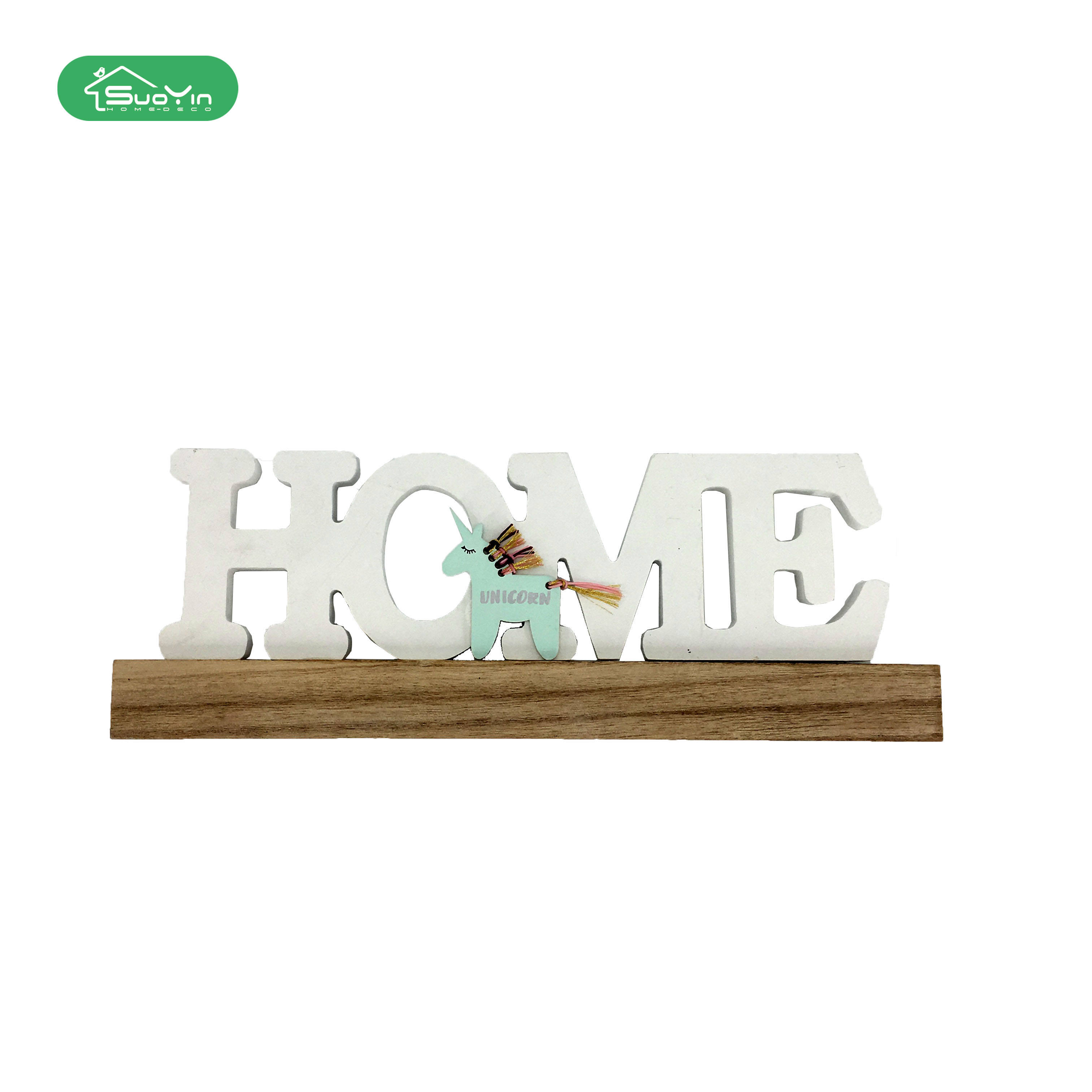 Home Decoratie Hout Ambacht Staan Wit Home MDF Letters