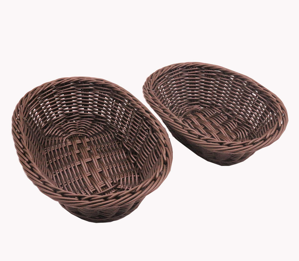 Hot Sale Mini Eco friendly Polypropylene Rattan Bread Basket for home