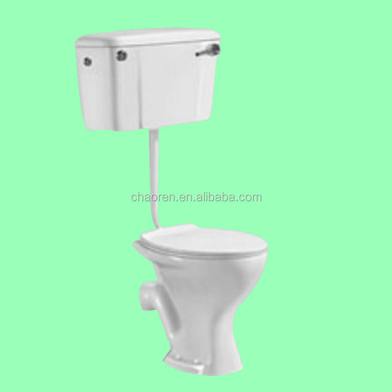 Commercial portable toilet ceramic washdown two-piece toilet for sale