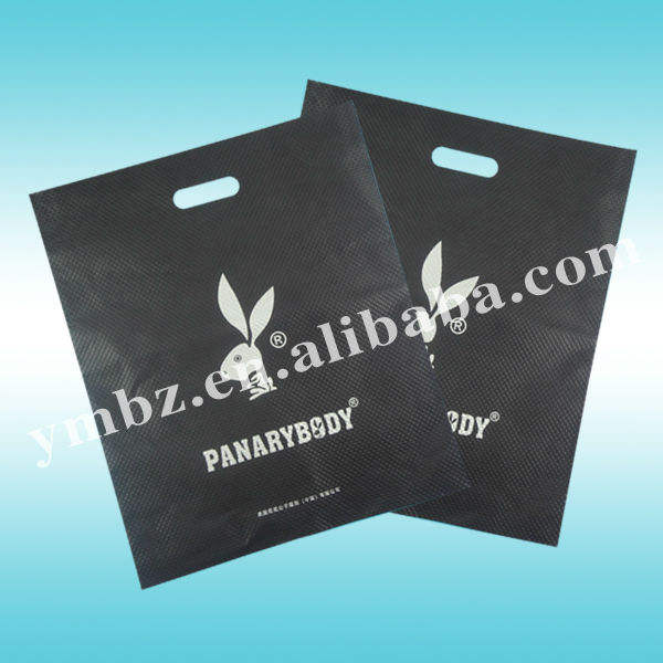 China factory wholesale cheap custom logo printing ldpe plastic shopping bag with die cut handle