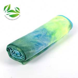 Custom Tpe Tie Dye Yoga Towel Mat Towelling Towels