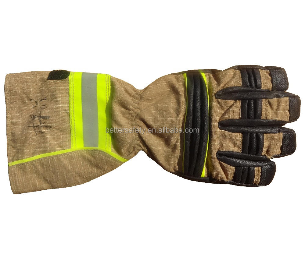 Firefighting glove fireman glove fire resistant work glove