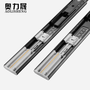 45MM width full extension furniture drawer side slide push to open soft close ball bearing drawer slides