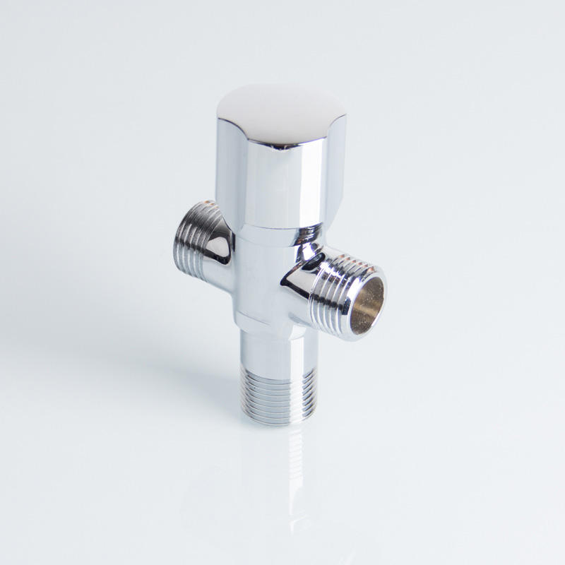 "3/8"" Bathroom Accessories Faucet 3 Way Shower Diverter Angle Valve Toilet Brass T Angle Valve"