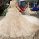 LSS480 long sleeves beaded beauty elegant luxury long train feather wedding dress bridal gown sexy