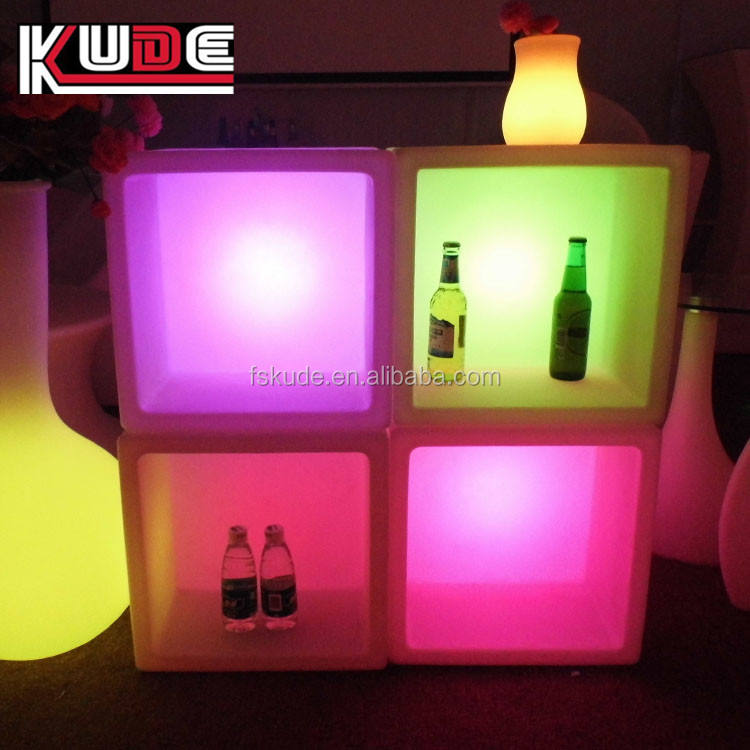 Plastic ice bucket RGB16 color chage led bar wine cabinet