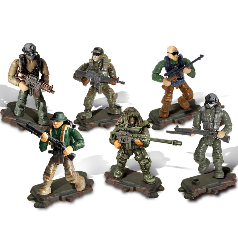 Action Figure Building Blocks Mini Military figures Board Game Toys