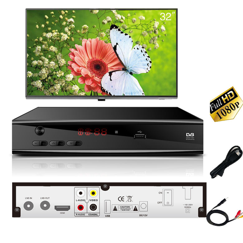 Full hd 1080p digital satellite tv receiver dvb s2