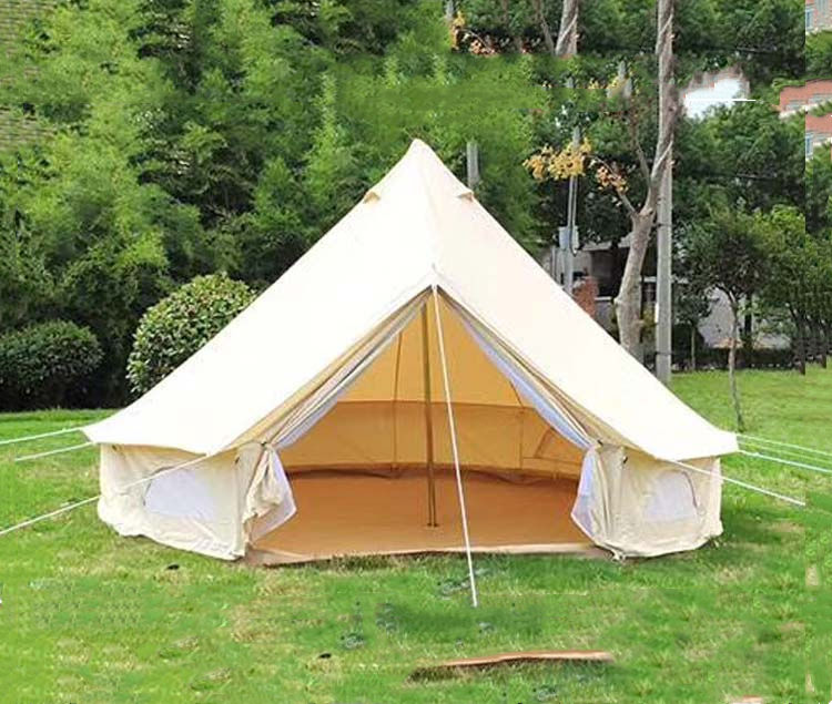 Outdoor Camping Tent Bell Mongolian Yurt Tent Elegant Hotel Temple Tent