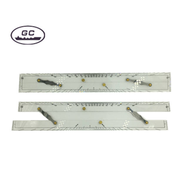 High Quality 450mm 600mm Marine Nautical Acrylic Parallel Ruler with Customized Service