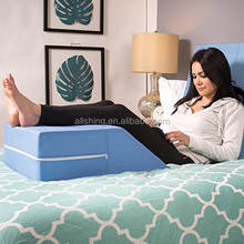Wholesale Bed Wedge Leg Lift Cushion Pillow, Blue, Improved Circulation