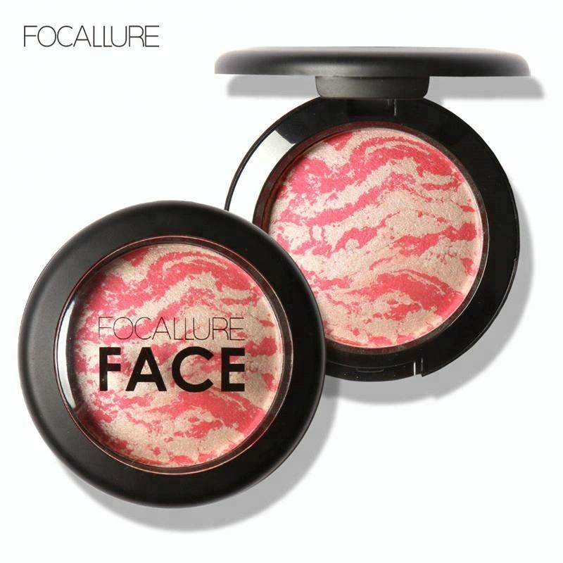 Focallure Hot New Product 2017 Professional Cheek Makeup 6 Colors Baked Blush Bronzer Blusher With Brush