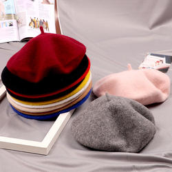 Autumn Winter Kids Retro French Hat Wool Berets Baby Hat