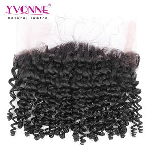 100 human hair kinky curly 360 lace frontal closure