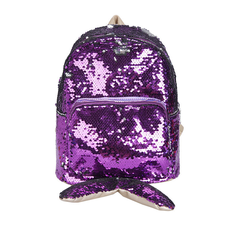 Sequins mermaid tail bags teen girls backpacks schoolbag girls fashion