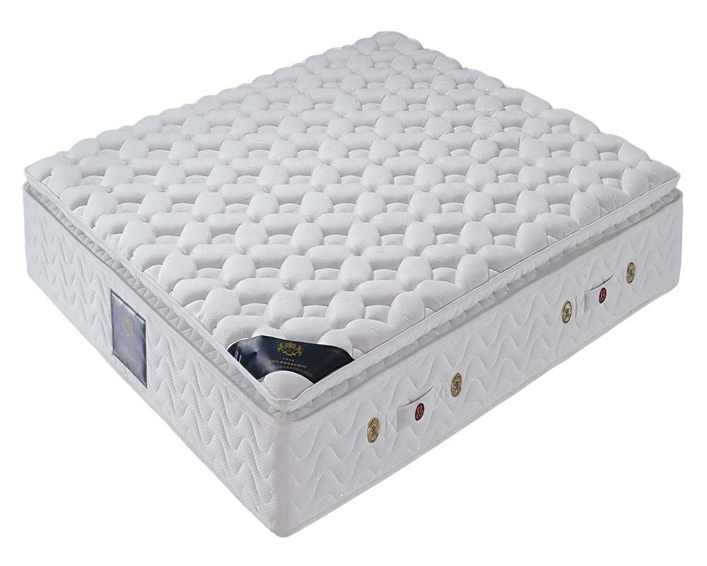 Free sample california king size sleep well spring cheap comfortable mattress 100 polyester knitted