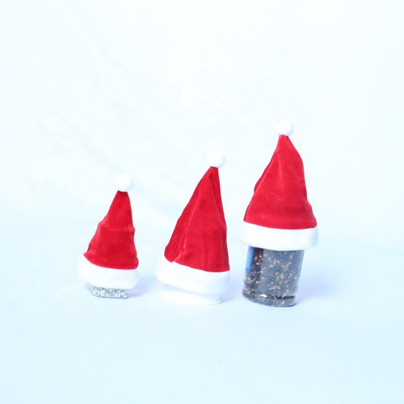 Xmas Party Decoration Felt Funny Mini Christmas Hat Cap For Knives And Forks Custom Cute Cartoon Small Mini Santa
