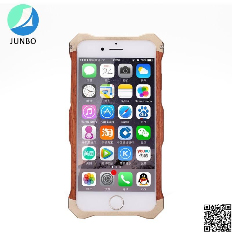 Т просто дерево + алюминий + кожаный чехол для iphone 6/6 s/6 плюс противоударный и водонепроницаемый чехол для телефона