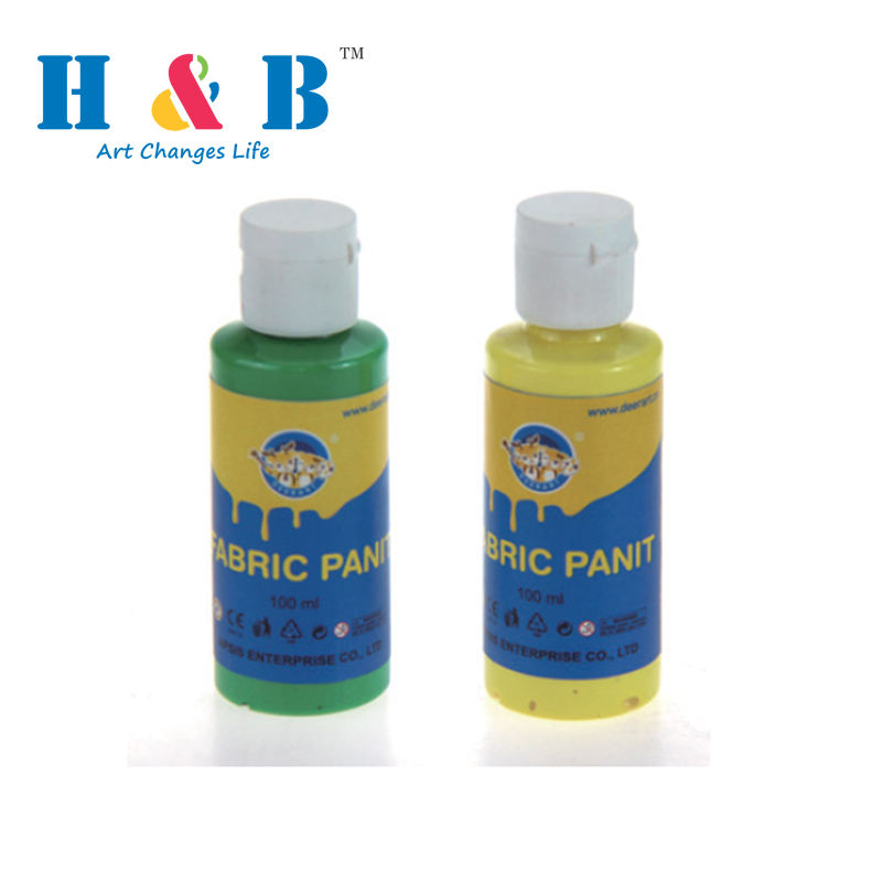 Washable colorful 100ml reflective fabric puffy paint in bottle