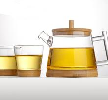 RELEA pyrex glass tea pot set with bamboo accessories 500ml stocked