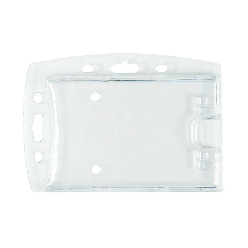 Clear Vertical Horizontal Multi-Used Acrylic Credit Card Holder badge holder for students, workers