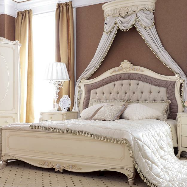 royal bedroom furniture mewah , desain antik kayu bedroom set
