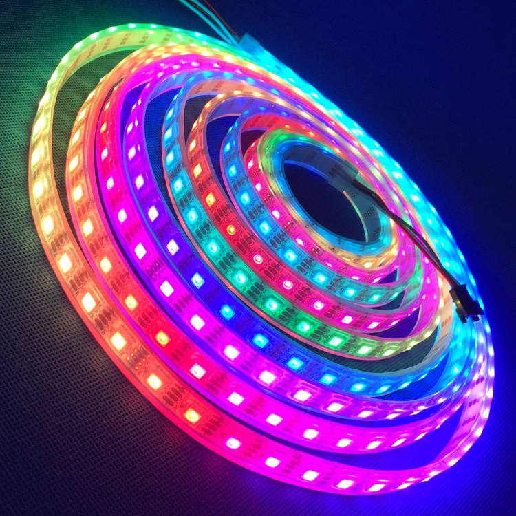 2019 New Product 5v 12v 24v RGB Rgbw Magic Dream Color Programmable Sk6812 ws2812b WS2811 digital addressable rgb led strip