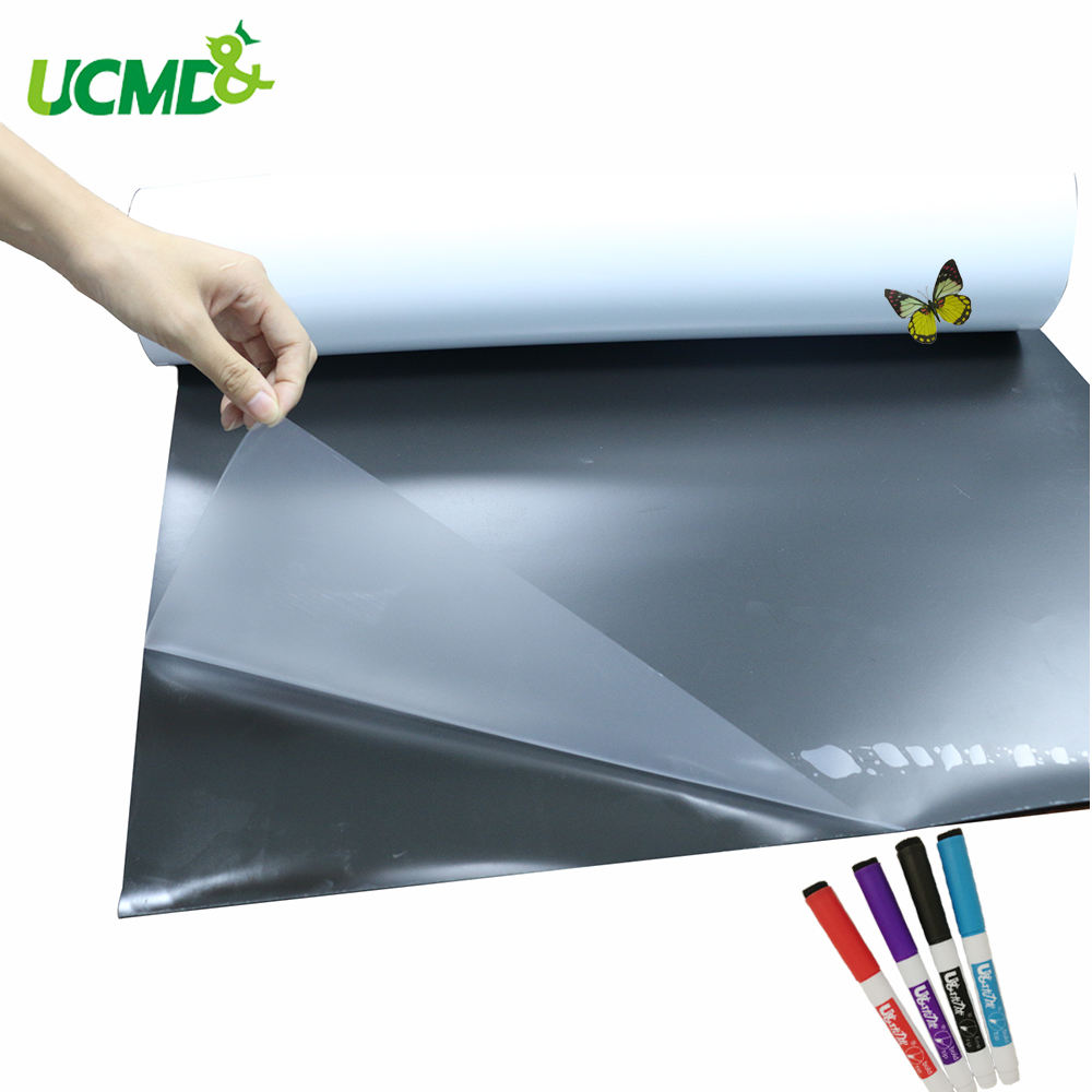 Single Side Dry Wipe Memo Message Long Teaching Reminder Notice Board Erase Self Adhesive Film Sticker Writing Magic Whiteboard