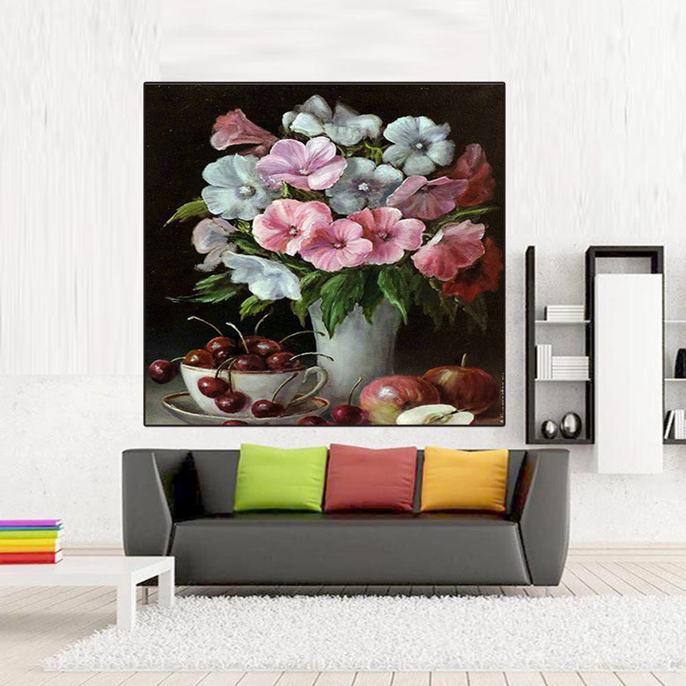 DIY Oil Painting By Numbers Wall Pictures For Living Room Coloring By Numbers T9