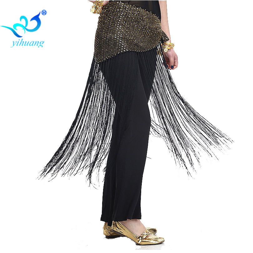 Customized Hight Quality Sexy Lady's Belly Dance Hip Belt Mini Skirt Fringe Tassel Sequin Scarf Wrap Skirt