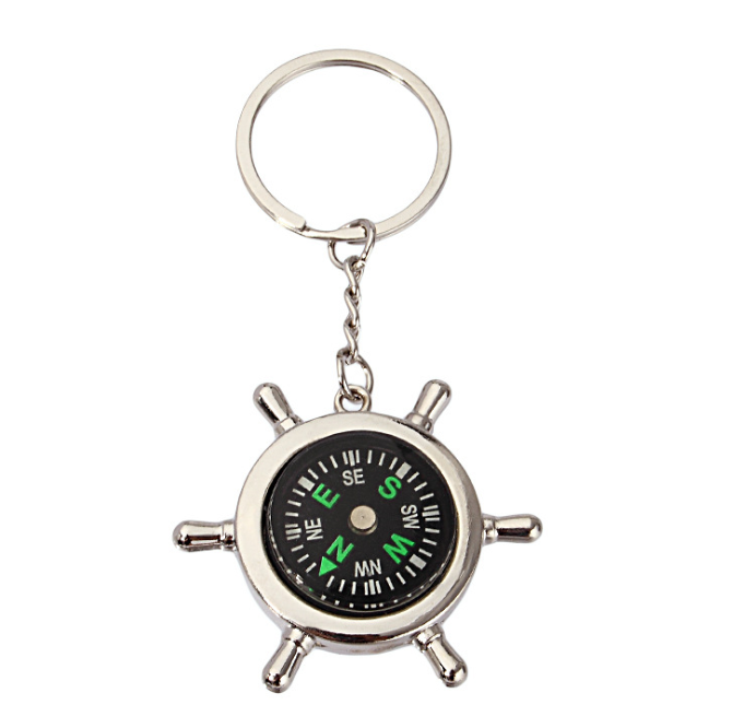 4sport-giftsHot sales Survival keychains Compass tool Keyring Useful Keychain With Compass