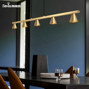 Savia indoor hanglamp Moderne Home/hotel/bar Decoraties LED COB 5*6W 3000K 5 lampen Messing Hanger plafond opknoping lamp