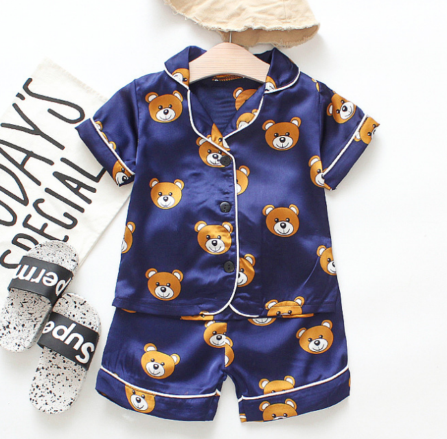 High Quality baby Kids pajamas children's short-sleeved suit summer 2 pieces pajama set