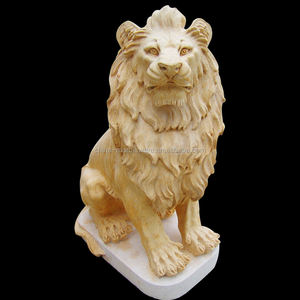 2018 hot koop hand carving lion marmeren standbeeld