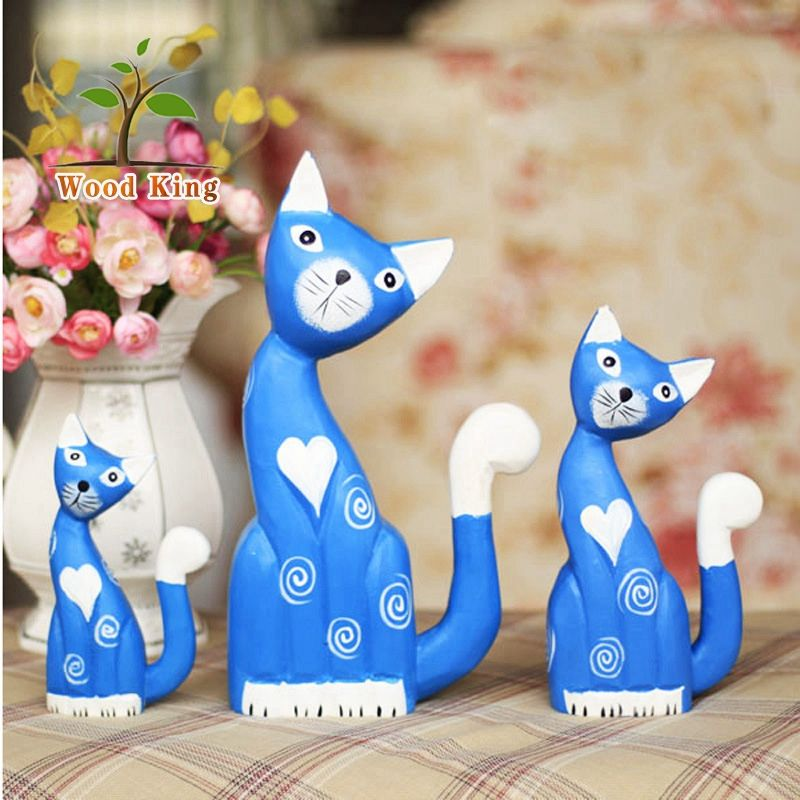Zakka Groceries Animal Furnishing Articles Wood Carving Household Gift Wooden Marriage Decoration Wedding