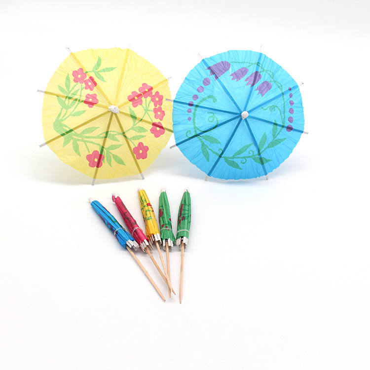 Custom Design Party Decoration Bamboo Cocktail Umbrella Picks For Sale