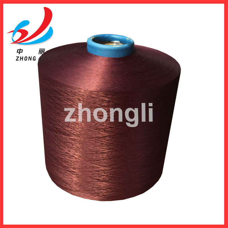 Black DTY 150D/48F sd NIM/HIM Polyester dope dyed yarn ZHONGLI brand(TOP 10 on ALIBABA)