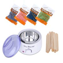 Hair Removal Electric Wax Warmer Machine Heater with Beans Applicator Sticks Waxing Kit