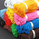 1 mm or 2 mm 2.5 mm or 3 mm high strength colorful round elastic cord rope rubber latex for clothes decoration chairs