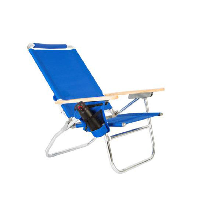 Aluminium Folding chair Outdoor canopy with Wooden Arm and Zippered Storage Pouch