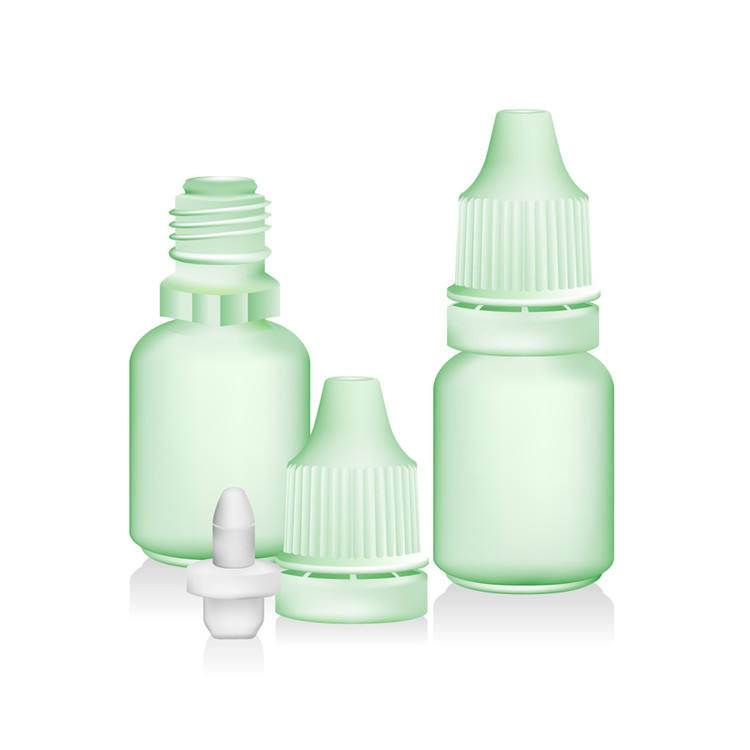Eye drop 5ml 8ml 10ml 15ml 20ml PE clear plastic dropper bottle with child proof cap
