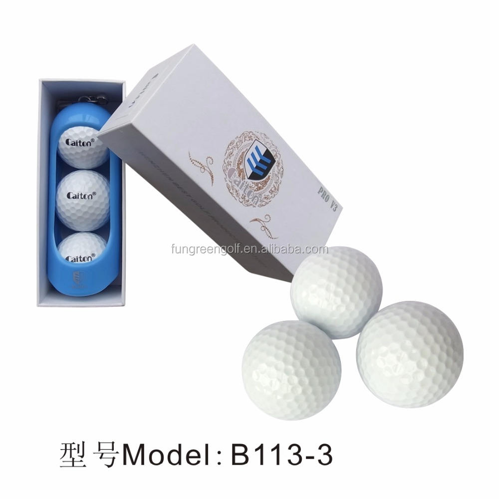 Professional Golf Ball Design Custom OEM Three Layer Tournament Golf Ball Marker Printer Practice Golf Ball Driving Range