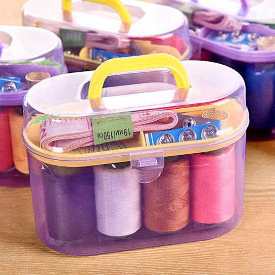 Wholesale Household Travelling Mini Sewing Kit in Plastic Box